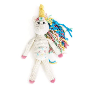 Rose the Unicorn Crocheted Organic Cotton Stuffed Animal