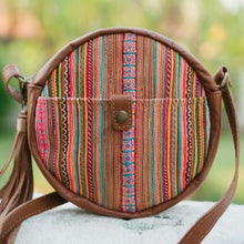 Load image into Gallery viewer, The Ginger Embroidered Round Leather Purse