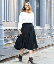 Load image into Gallery viewer, Malala Midi Skirt in Black