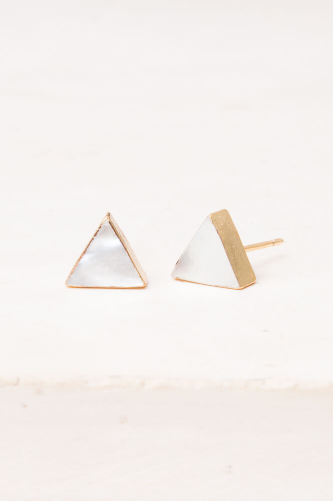 Leigh Mother-of-Pearl Stud Earrings