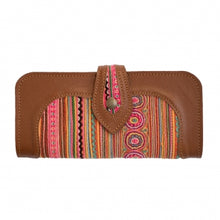 Load image into Gallery viewer, The Smiles Embroidered Brown Large Wallet Purse - Various Colors
