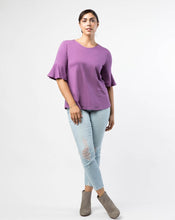 Load image into Gallery viewer, The Whitney Bell Sleeve Top in Grape