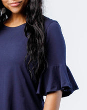 Load image into Gallery viewer, The Whitney Bell Sleeve Top in Navy
