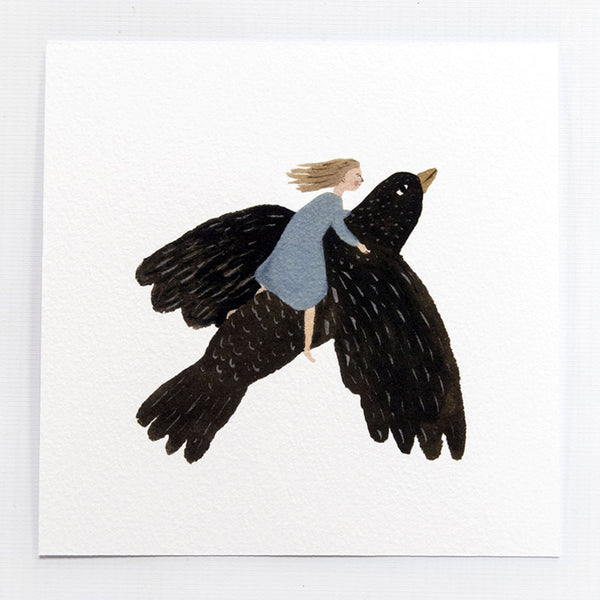 Starling Flight 6x6 print