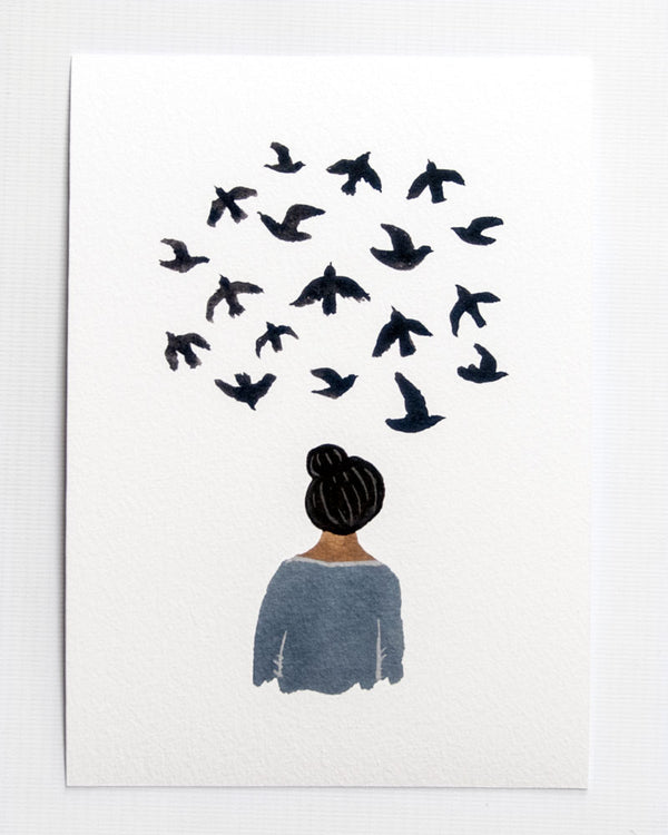 Bird Thoughts A5 print
