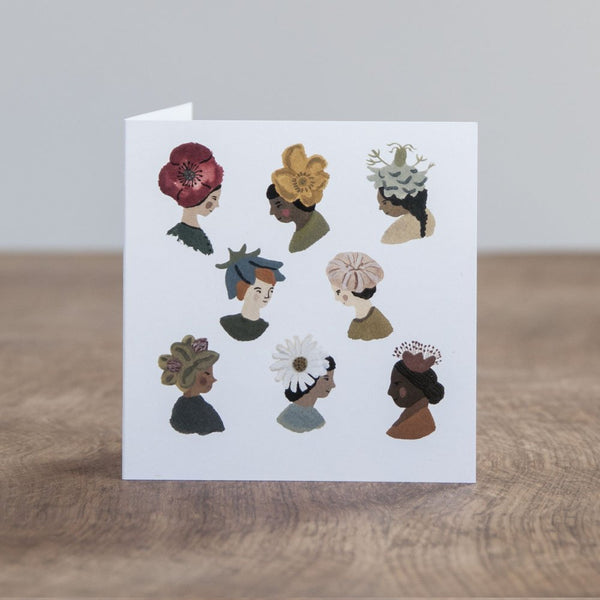 Fine Flower Hats card