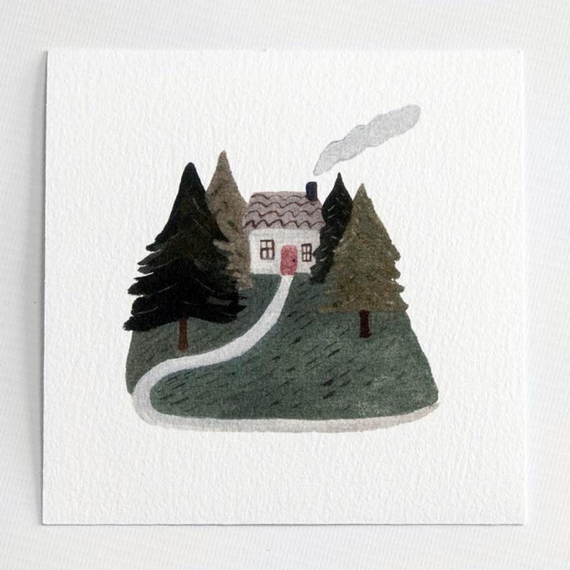 A Home In The Woods 6x6 print