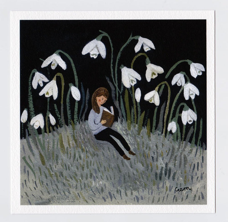 In the Snowdrops 7x7 print