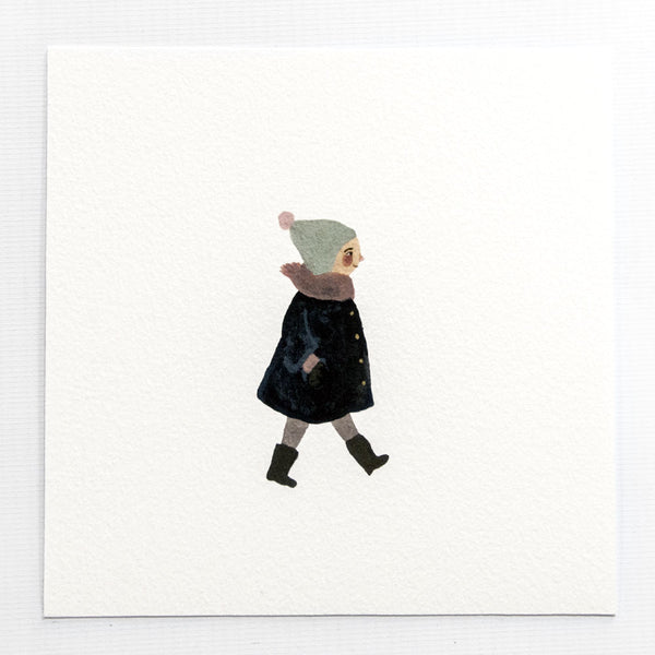A Little Walk 6x6 Print