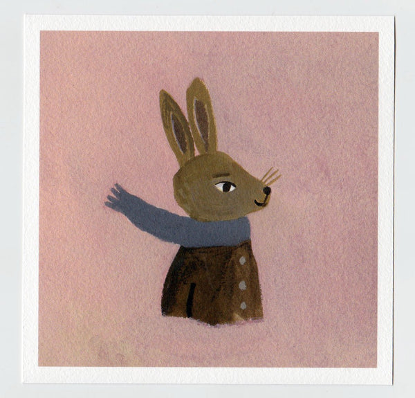 Hare in Winter 7x7 print