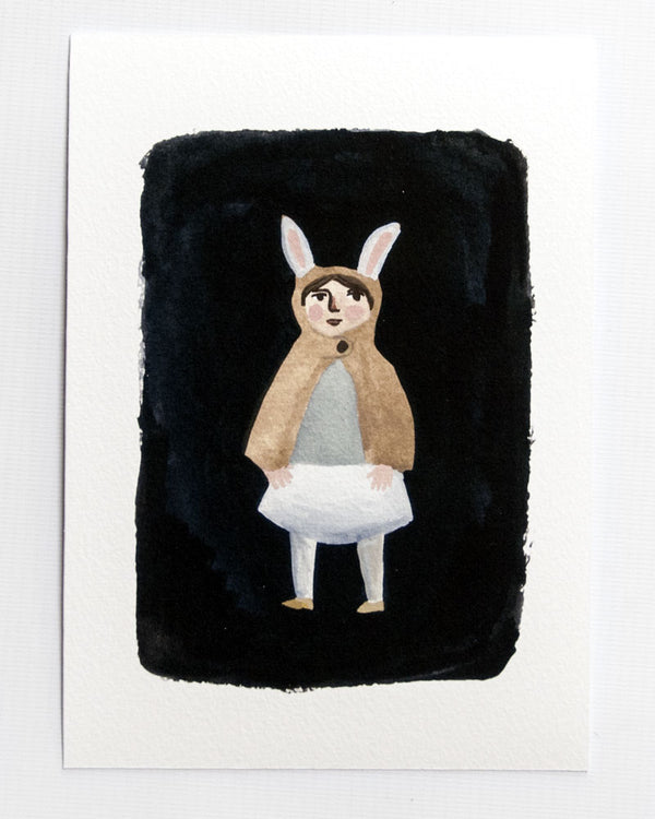 The Rabbit Cape A5 Print