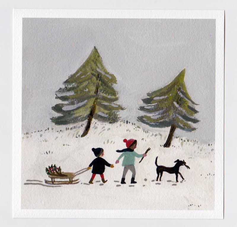 Out in the Snow 7x7 print