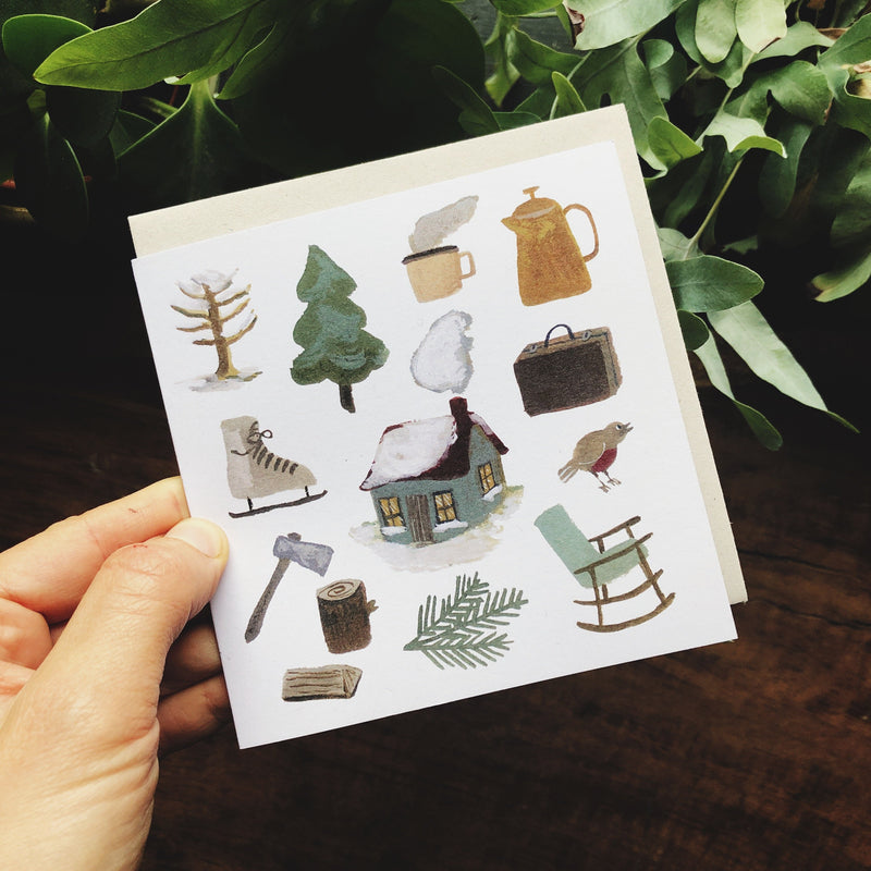 Winter in the Woods card