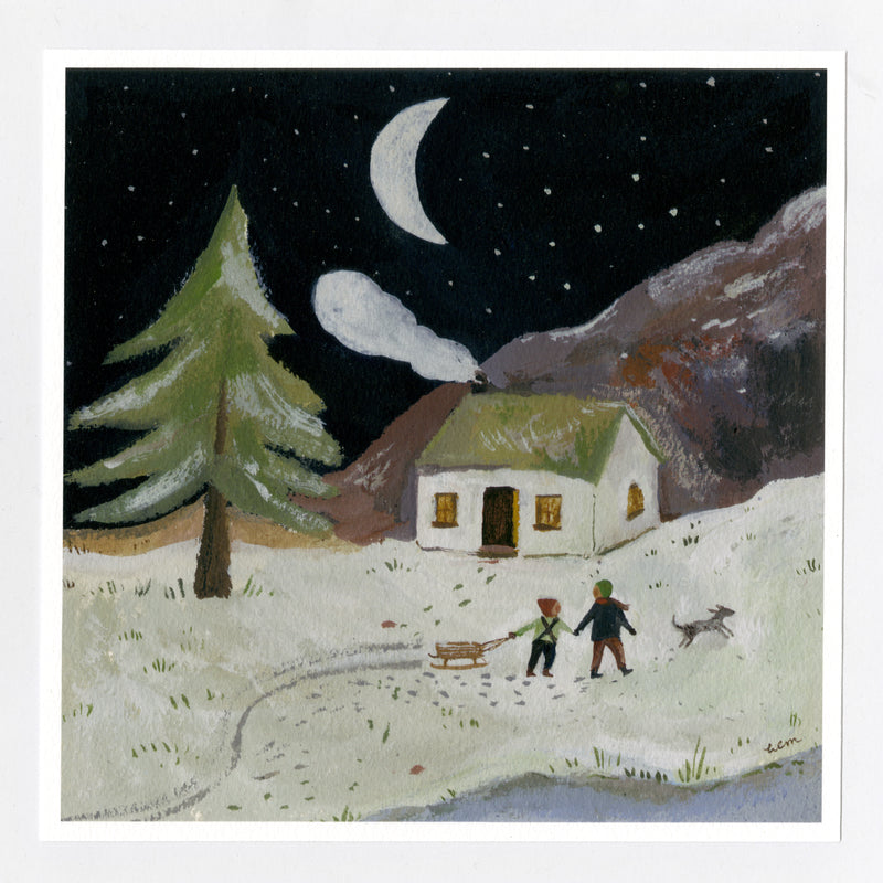 A Winter's Night 20x20cm Print
