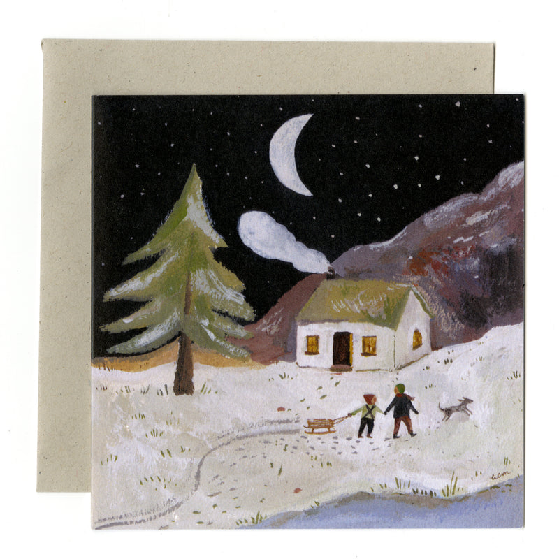 A Winter's Night card