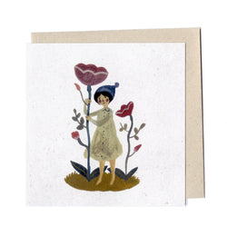 Blooms and bobble Hat card