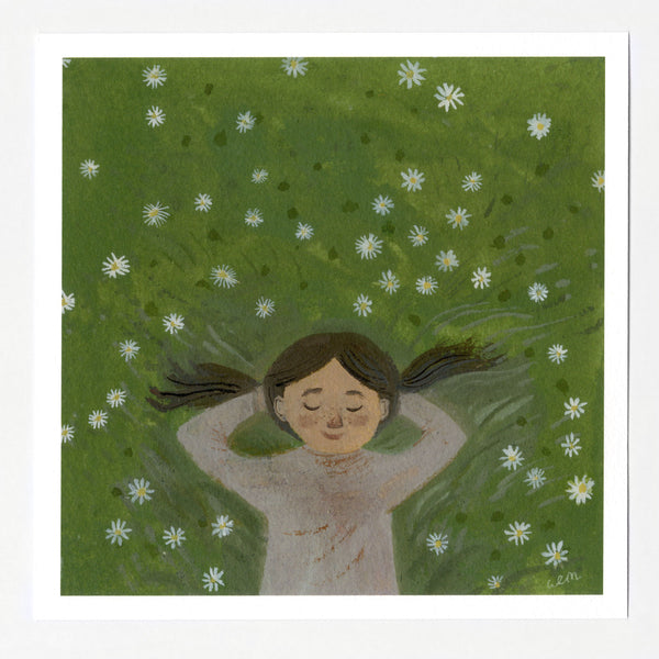 Dreaming in the Daisies 7x7 print