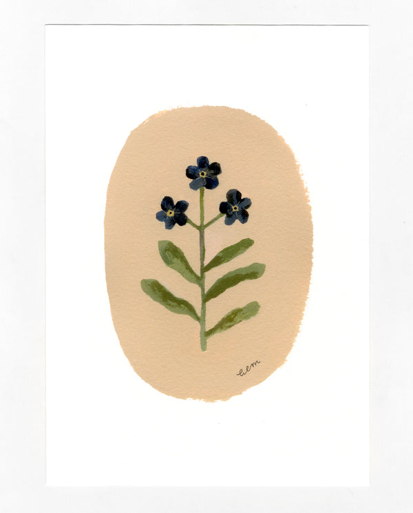 Forget-me-nots a5 print