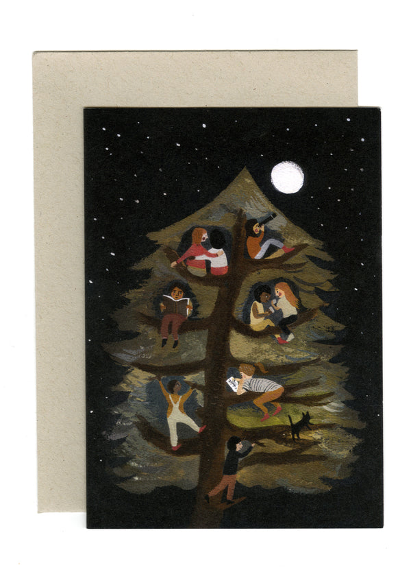 Friends in a Tree card