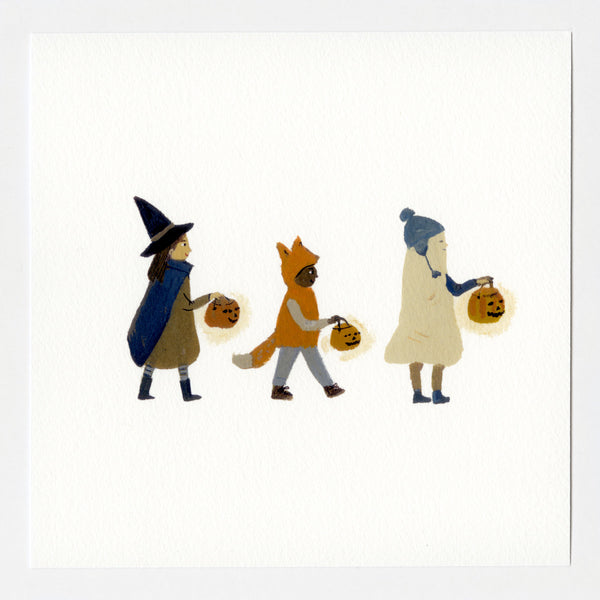 Halloween Friends 7x7 print