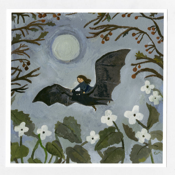 Hedgerow Bat 20x20 cm print