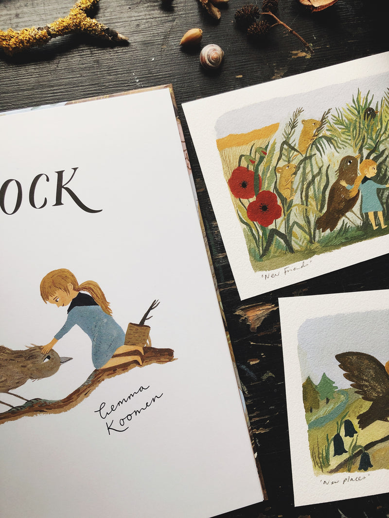 Signed Hardback Copy of The Treekeepers - Flock with a5 art print