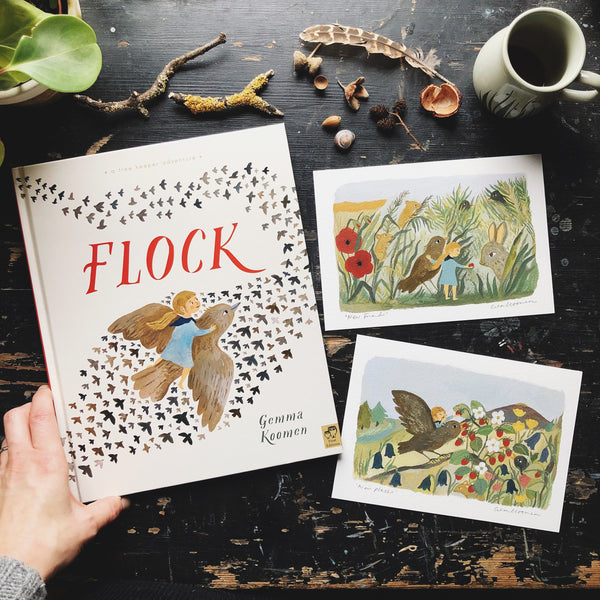 Signed Hardback Copy of Flock with a5 art print
