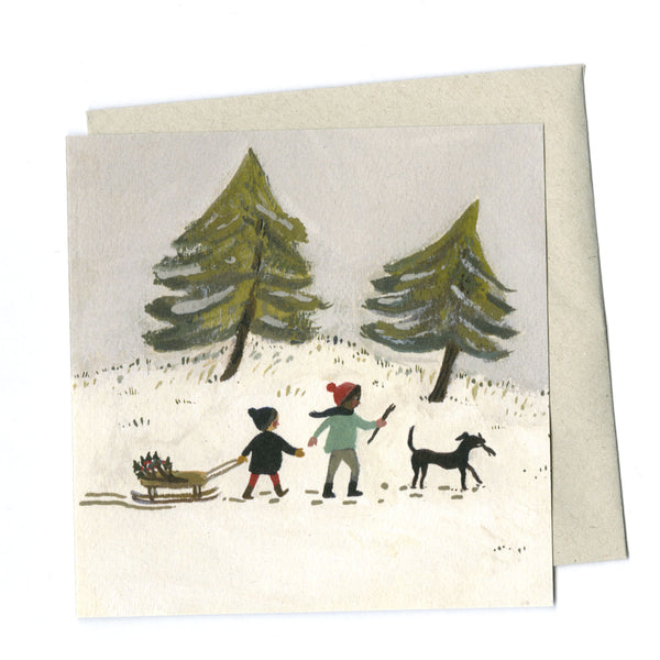 Out in the Snow card