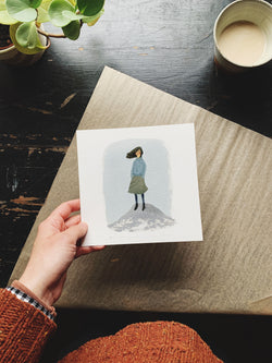SECONDS & SAMPLES SALE-  girl on rock 7x7 Print