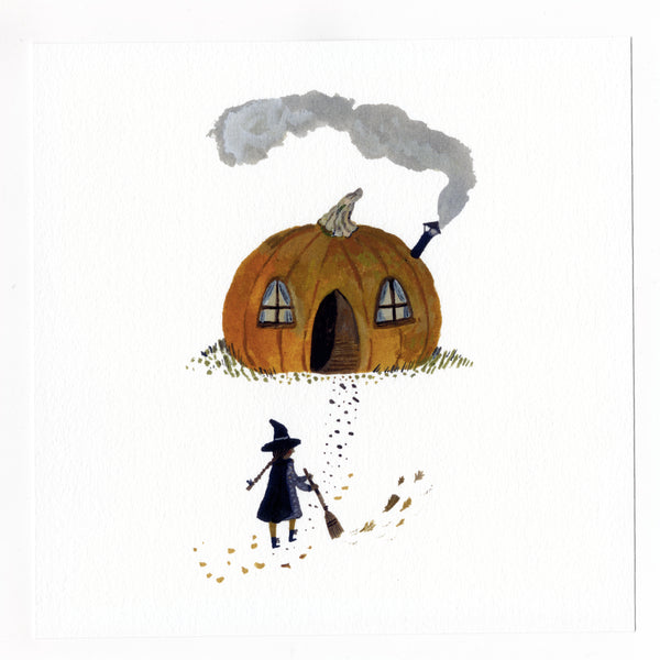 Pumpkin Cottage 20x20 print
