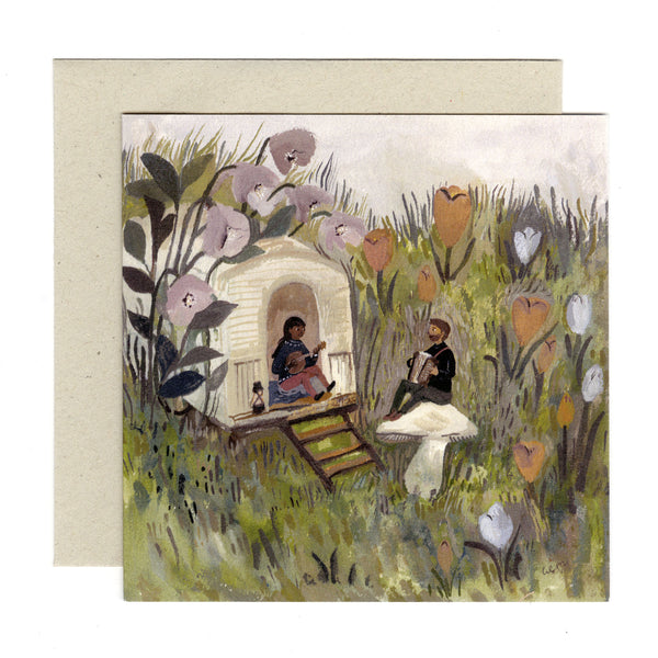 Spring Song 120x120mm card