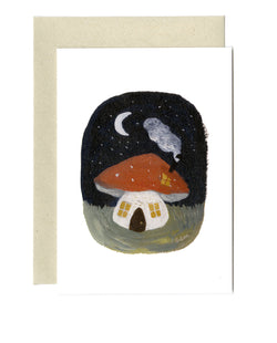 Toadstool Cottage card