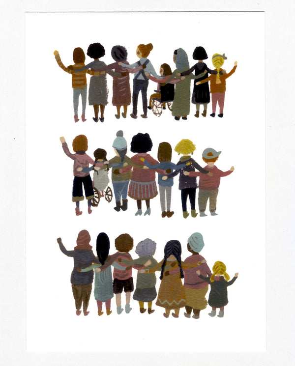 Unity, Solidarity, Strength A5 Print