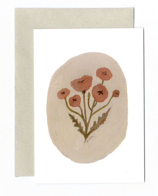 Wild Poppies a6 card