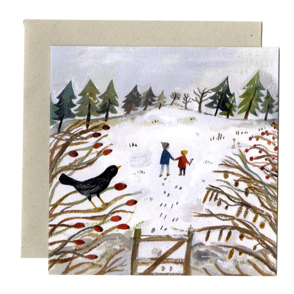 Winter Fields card
