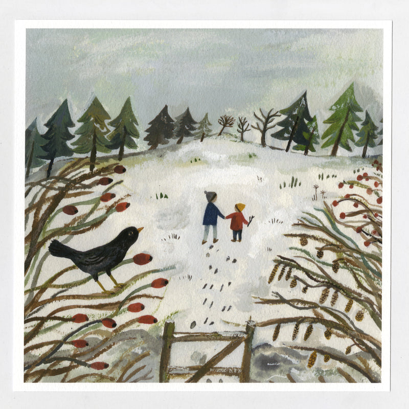 Winter Fields 20x20cm print