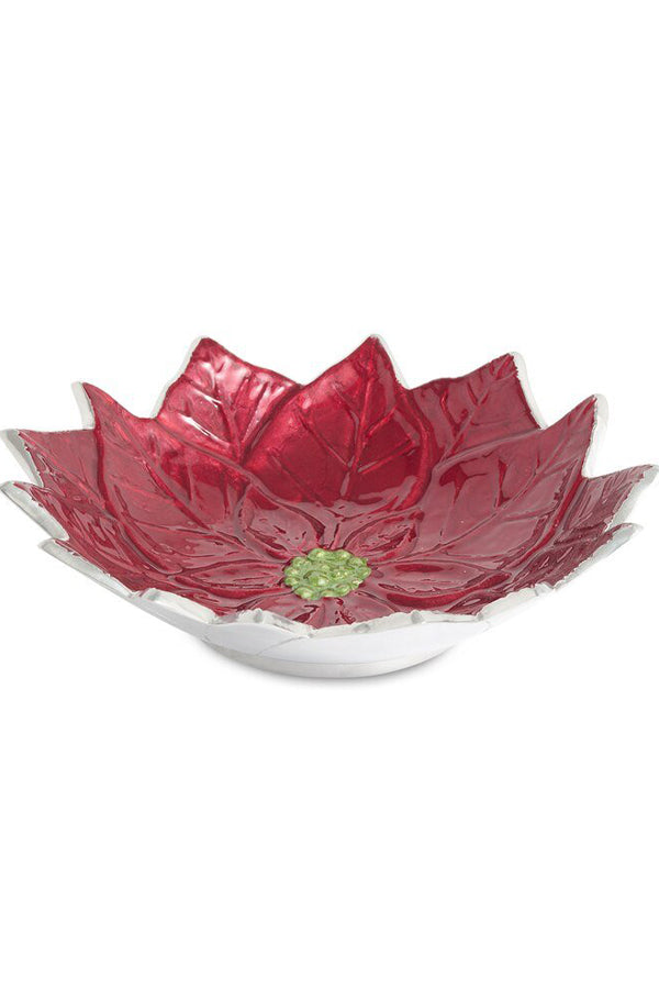 "Poinsettia 9"" Bowl Pomegranate"
