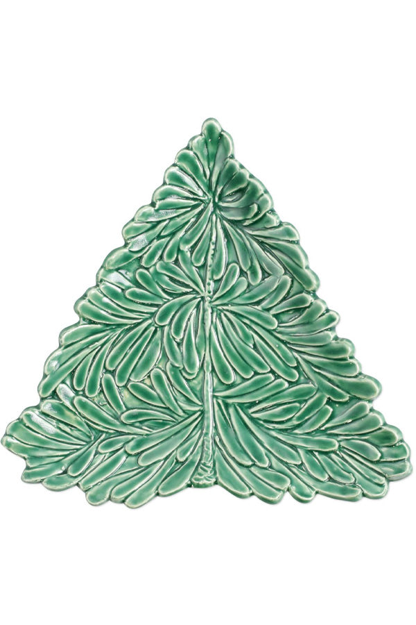 Lastra Holiday Fugural Tree Small Plate