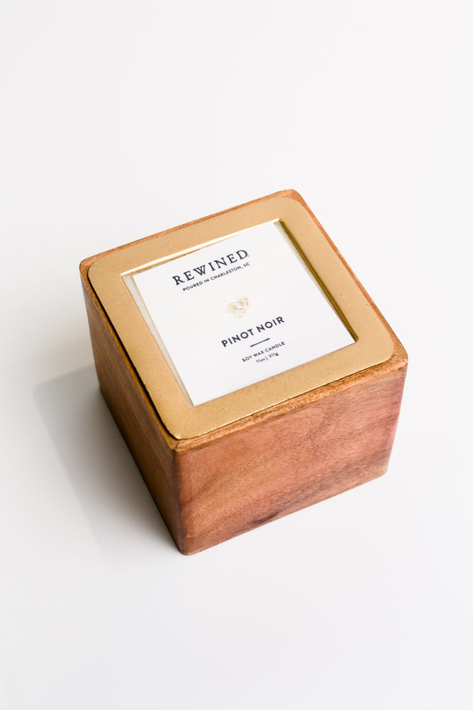Square Barrel Aged Candle