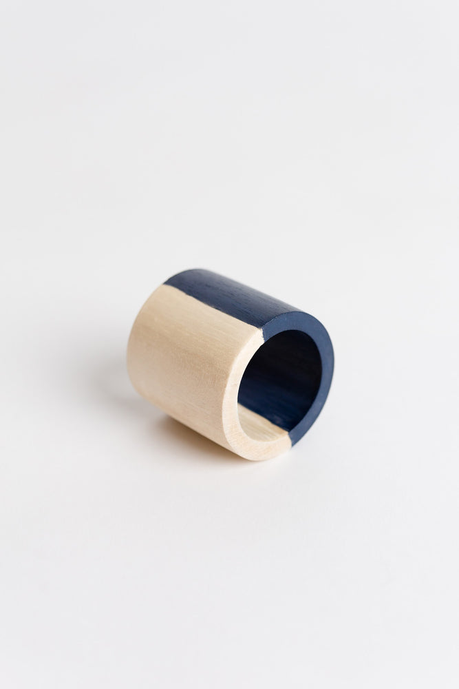 2 Tone Wood Cuff Napkin Ring