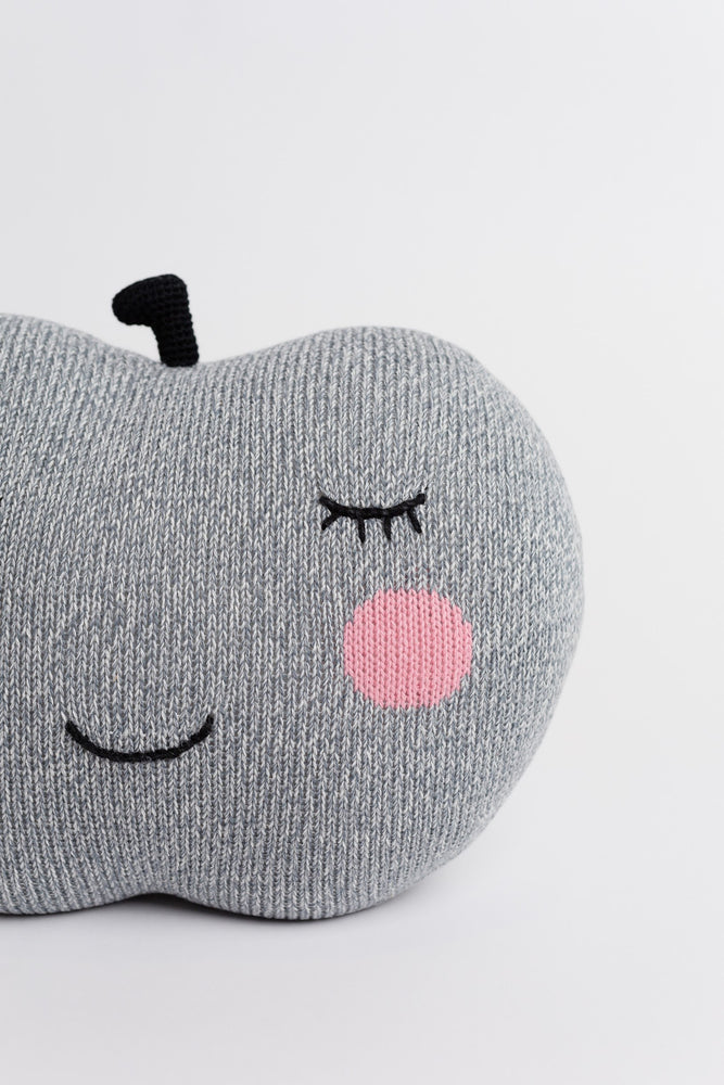 Grey Apple Pillow