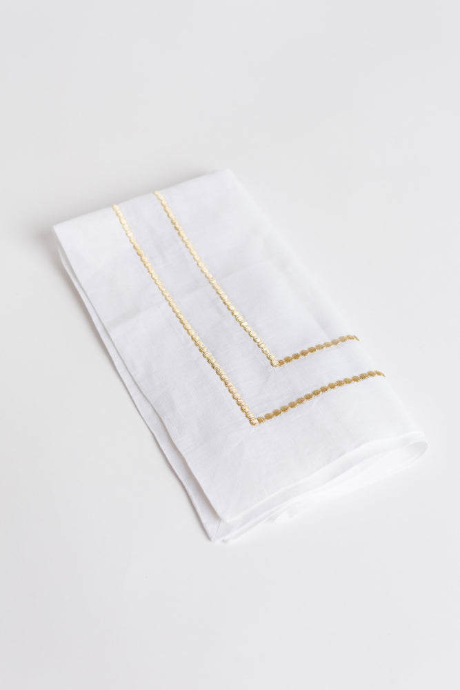 Bauble Hemstitch Embroidered Napkin
