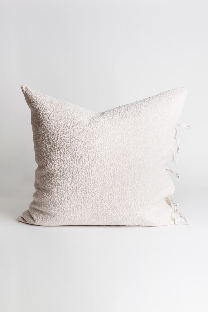 Gobi Matelasse Decorative Tie Pillow