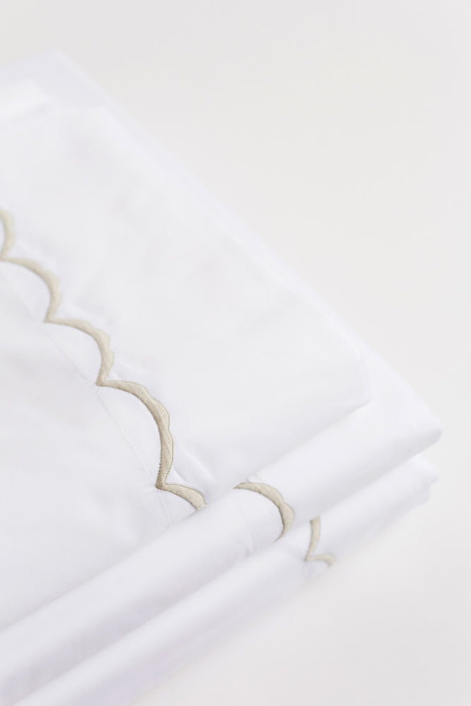 Scallop Pillowcases Pair