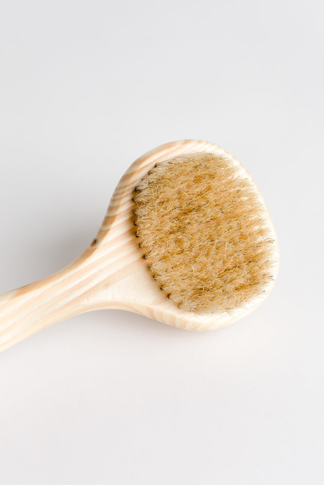 Cedar Handled Bath Massager Brush