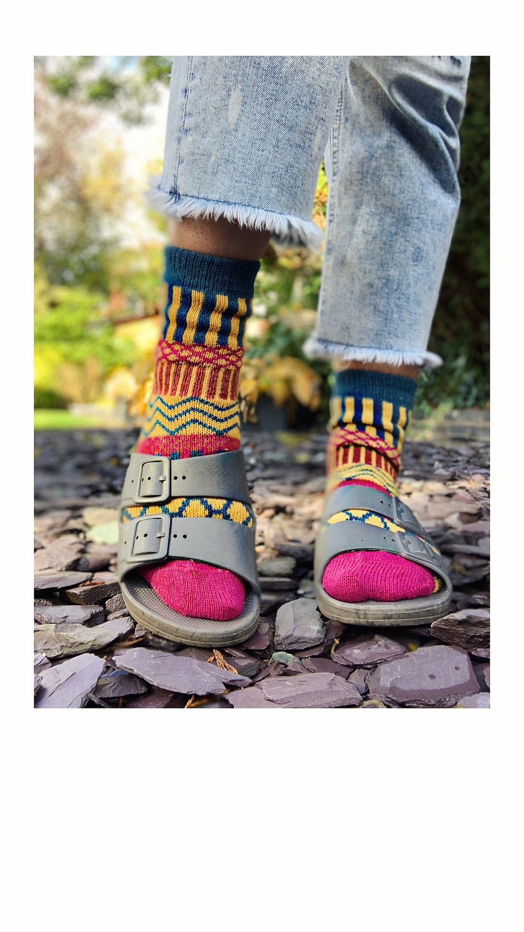 Argyle Socks - Pink/Blue/Yellow