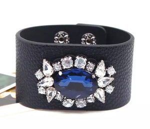 Jewelled Cuff - Midnight Blue