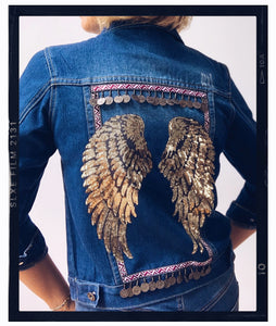 Rose Mae Reworked - BOHO LOVE Denim Jacket