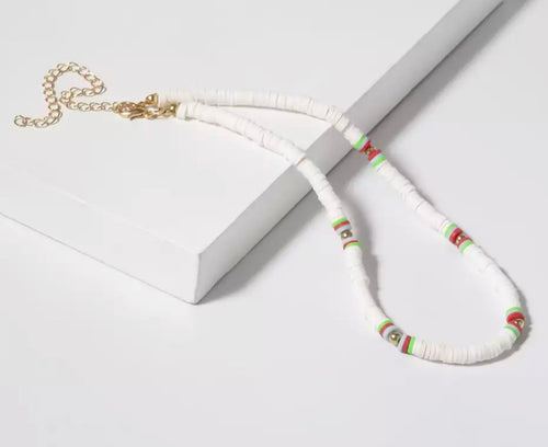 Disc Necklace - White