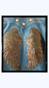 SPREAD YOUR WINGS - Rose Mae Reworked Denim Shacket (THIS PIECE IS RESERVED)